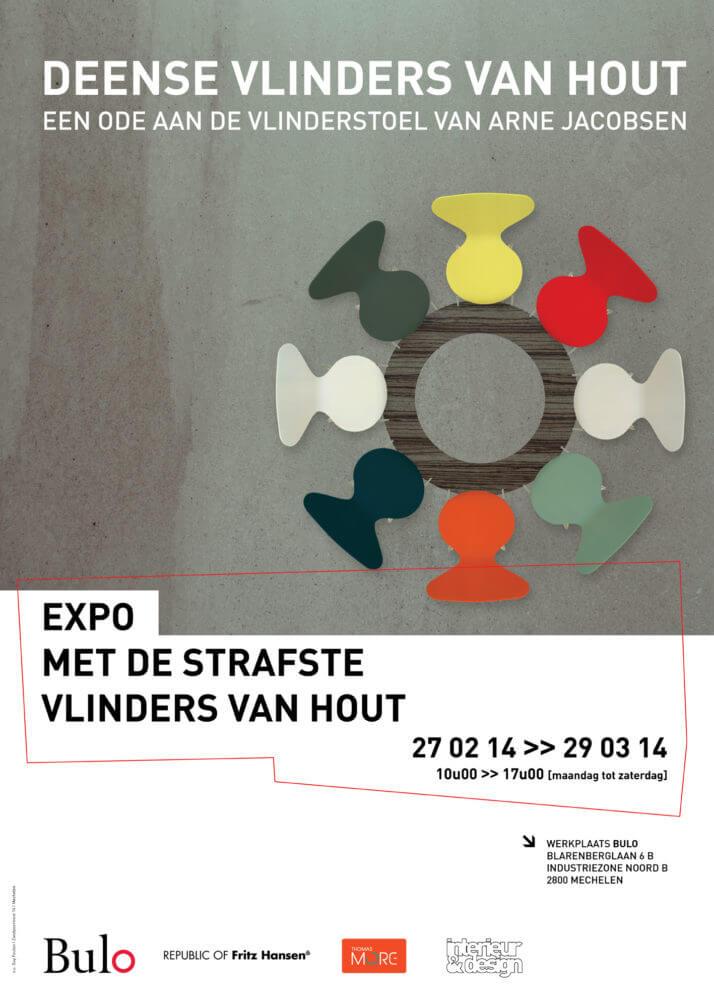 Deense Vlinders van hout poster (BE) 2014 Hanne Keirse